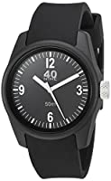 40Nine Women's 'Basic' Quartz Plastic and Silicone Casual Watch, Color:Black (Model: 40N2.5.1L)