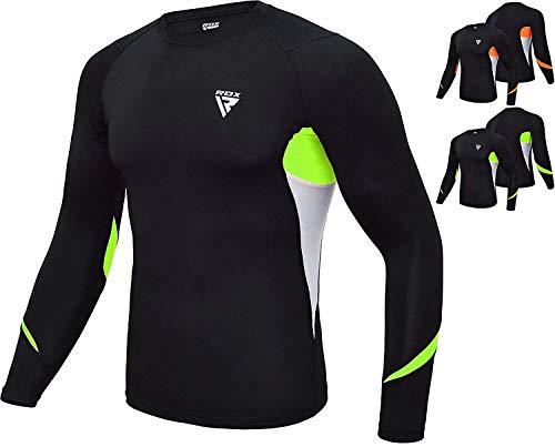 (RDX MMA Compression Base Layer Rash Guard Thermal Sauna Suit Shirt Top)