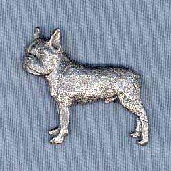 Boston Terrier Pewter Pin - Harris Pewter Pin