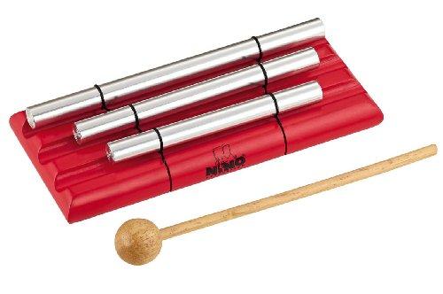 - Nino Percussion NINO580-R 3 Row Handheld Energy Chimes, Red