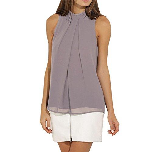 KOINECO - Camiseta sin mangas - para mujer gris