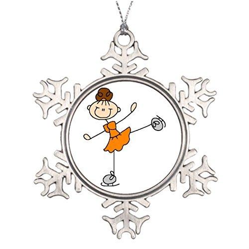 (Personalised Christmas Tree Decoration Orange Figure Skater Christmas Decoration Christmas Snowflake Ornaments)