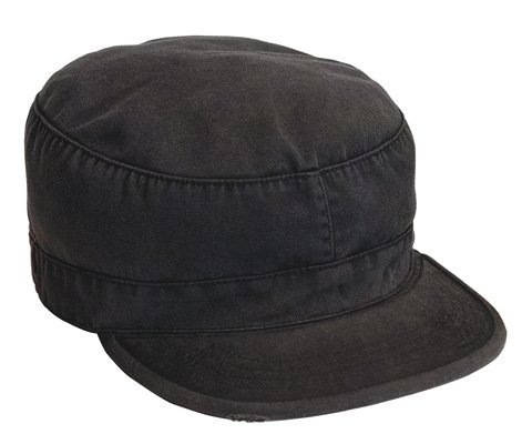 4503	Black vintage fatigue cap (Medium)