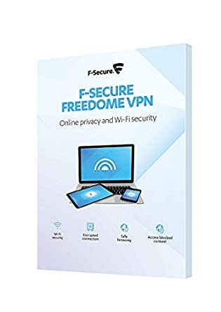 F-Secure Freedome VPN Online Privacy Protection Retail Box (1 Year, 3  Devices) (PC/Mac/Android)