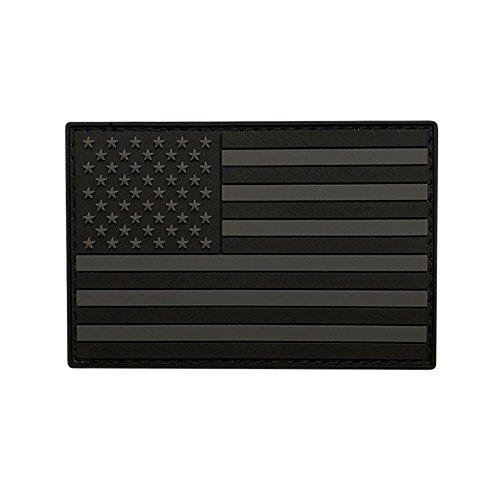 USA American Flag Acu Morale PVC Rubber Hook Patch (3.0 x 2.0 MTB19)