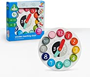 Early Learning Centre Wooden Teaching Clock, Pre-School Educational Toys Learning to Count and Problem-Solving