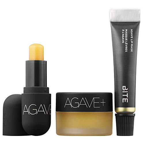 BITE BEAUTY All Agave 3-Piece Lip Care Set (Minis: Agave+ Nighttime Lip Therapy, Agave Lip Mask, Agave+ Daytime Lip Balm)