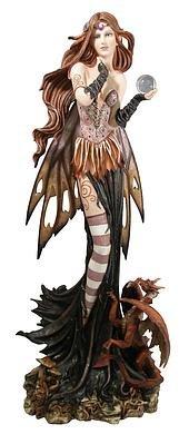 Con bola de cristal Drachenfee Dragana, dragón y tatuajes: Amazon ...