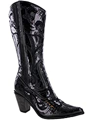 HELENS HEART 0290-12 BLACK WOMENS WESTERN BOOT Size 9M