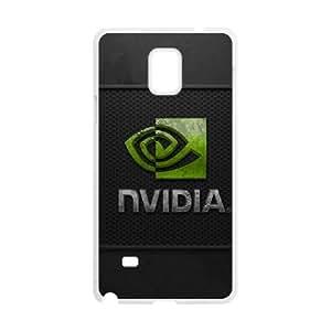 Samsung Galaxy Note 4 Cell Phone Case White Nvidia Corrosion Logo J5F1SU