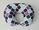 Nursing Pillow Cover - Purple and Aqua Scales