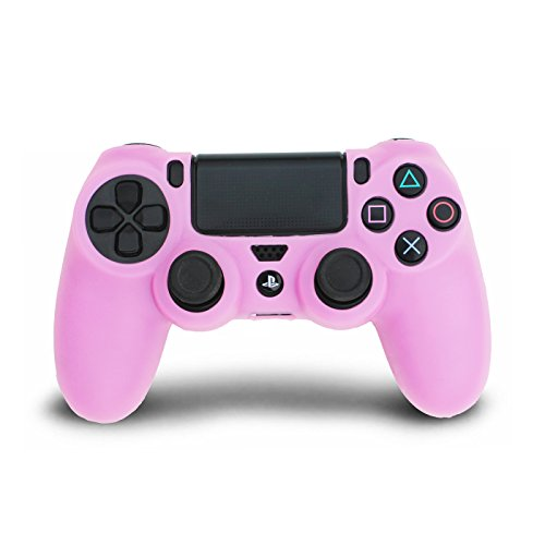 HDE Silicone Controller Skin for PS4 DualShock Controllers Colorful Protective Grip for Sony Playstation 4 Wireless Game Controllers (Light Pink)