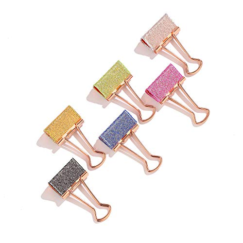 - Metallic Glitter Binder Clips Assorted Classroom Photo Clips Colored Foldback Paper Clips