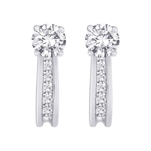 Diamond Earring Jackets in 10K White Gold (1/4 cttw, Color JK, Clarity I2-I3) by KATARINA