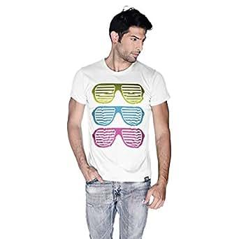 Creo Beach Cool Glasses T-Shirt For Men - L, White