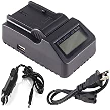 LCD Battery Charger for Sony HVR-A1, HVR-A1U, HDR-HC1, HDR-SR1, HDR-UX1 Handycam Camcorder