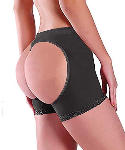 Women Butt Lifter Body Shaper Tummy Control Panties Shapewear Underwear Booty Enhancer Panty Seamless Sexy Boy Shorts (Black, XXL)