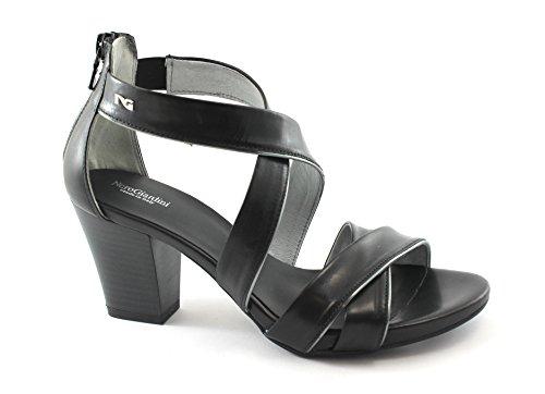 Talon Chaussures Noir 05650 Giardini En Nero Femmes Sandales Zip Cuir Za8U7qvnw