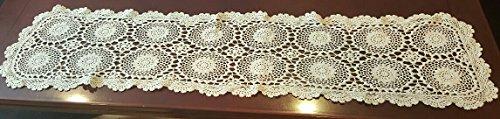 Handmade Crocheted Dresser Scarf, Crocheted Doily (Doilie) 53