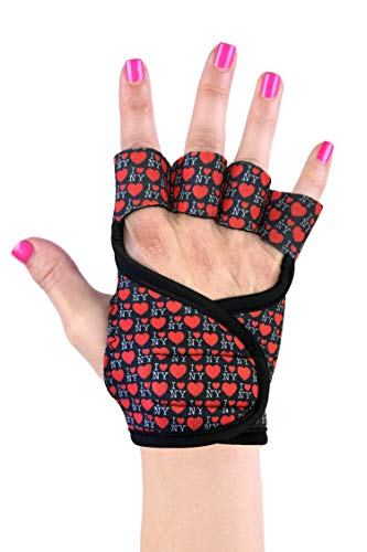 Womens Workout Gloves | Icon Collection | Best Gloves Grip Exercise Gym Fitness Weightlifting (Rat Race, S)