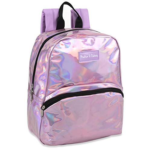 (Holographic Laser Leather and Shiny Glitter Mini Backpacks for Women & Girls' for Travel, College & Work)