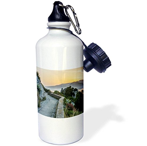 3dRose Danita Delimont - Sunrises - Europe, Italy, Isle of Capri, sunrise over the Sorrento Peninsula - 21 oz Sports Water Bottle (wb_277645_1) by 3dRose