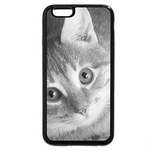 iPhone 6S Case, iPhone 6 Case (Black & White) - Cat