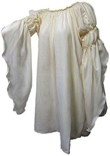 Renaissance Medieval Peasant Dress Up Pirate Faire Celtic Blouse ,One -
