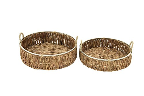 "Deco 79 41140 Sea Grass Storage Basket (Set of 2), 18""/20""W - Makes a decorative piece for home and outdoor decor Measures 18. 75-Inch length by 23. 5-Inch height by 12-Inch width This product is Made in India - living-room-decor, living-room, baskets-storage - 41toxoqjjVL -"
