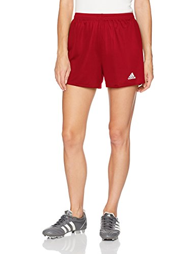 adidas Women's Parma 16 Soccer Shorts, Power Red/White, - Jersey Red Embroidered Football