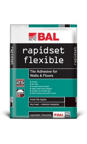 Rapid Set Flexible White 20 Kg Adhesive White Bal Floor Tile