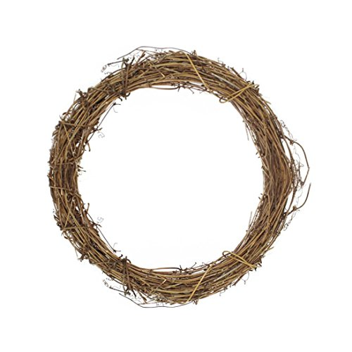 HP95(TM) Christmas Grapevine Wreath Party Leaf Fall Door Wall Ornament Natural Vine Decor (Large) -