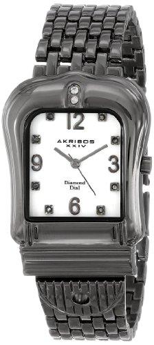 Akribos XXIV Women's AK528BK Quartz Buckle Bracelet Watch