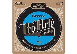 D'Addario EXP46 Coated Classical Guitar Strings, Hard Tension