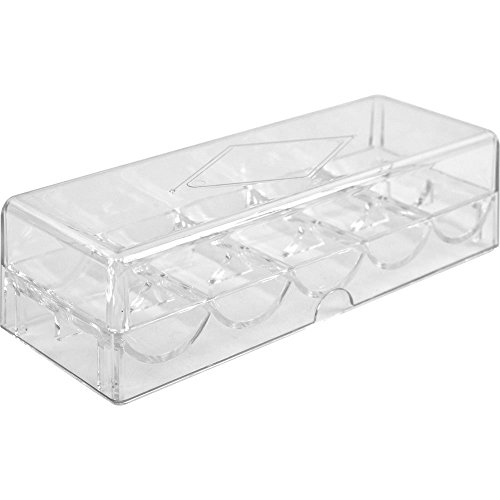 Brybelly Acrylic Poker Chip Tray with Cover - Holds 100 Chips by Brybelly