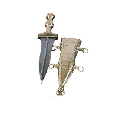 Deepeeka-AH3264B Brass Beaded Pugio - Pugio Dagger