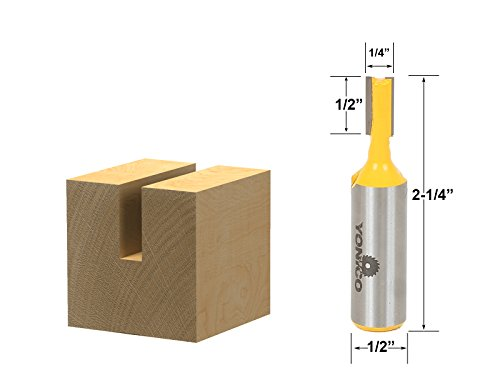 Yonico 14155 Straight/Dado Router Bit with 1/4-Inch x 3/4-In