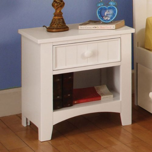 247SHOPATHOME IDF-7905WH-N Childrens-nightstands White