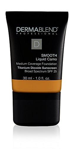 Dermablend Smooth Liquid Camo Medium to High Coverage Foundation Makeup with SPF 25, 45w Honey, 1 fl. oz. (Best High Coverage Foundation For Combination Skin)