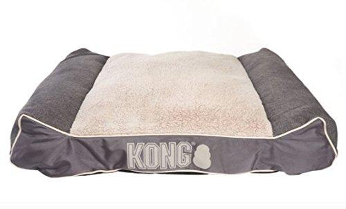 KONG Lounger Plush Pillow Dog Bed Grey