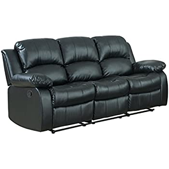 Delicieux Bonded Leather Double Recliner Sofa