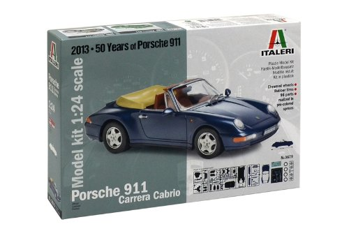 Carreras Porsche Cabrio - 1:24 Scale Porsche 911 Carrera Cabrio Model Kit