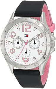 Tommy Hilfiger Women's Sport Stainless Steel and Black Silicon Watch 1781175