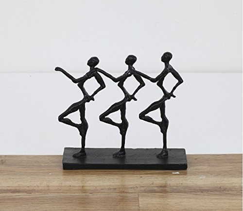 Cold cast iron hand dance 'sculpture after modern metal ornaments desktop art soft zj0201511 ( Size : Black )