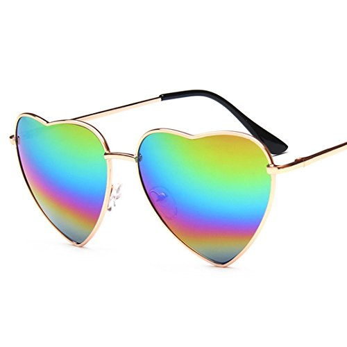 nbsp;polarizadas funda forma Con de gafas Colorful sol UV400 Marco de estanques gafas de de corazón Colorful gafas Fashion sol Meliya con Mental 0wSH66q