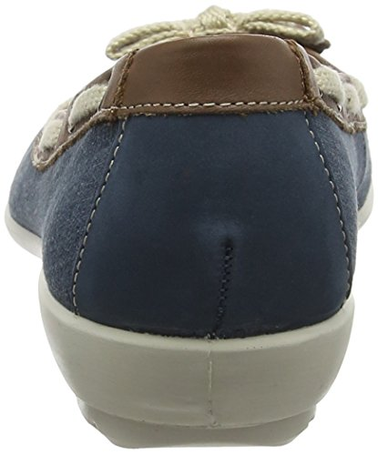 Blue Women's Hotter Gem Flats EXF Ballet Tan River Blue Happx1qcA
