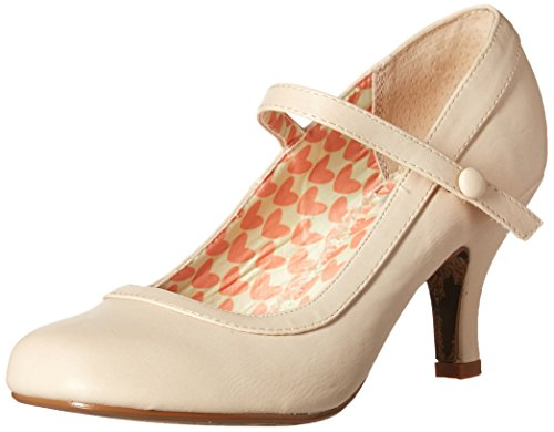 Bettie Page Women's Bp320-Bettie Dress Pump, Nude, 10 B - Men Retro Nude