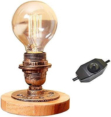 XINYU Lámpara de Mesa Industrial rústica, lámparas de Escritorio ...