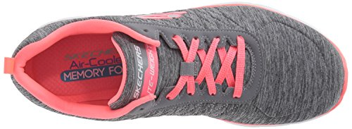 Skechers Damen Flex Appeal 2.0 Outdoor Fitnessschuhe Grau (Grey/coral)
