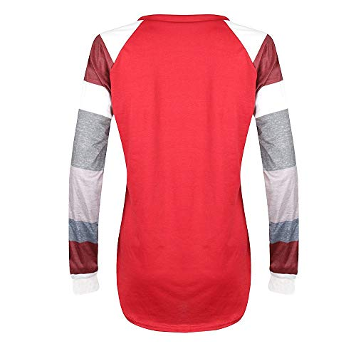 251c67284d vermers Fashion Striped Long Sleeve T Shirt, Women Casual Loose Christmas  Printed O-Neck